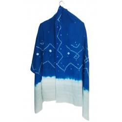 Mehrunnisa Handcrafted Bandhani Tie & Die Woolen Shawl from Gujarat (GAR2482)