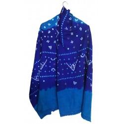 Mehrunnisa Handcrafted Bandhani Tie & Die Woolen Shawl from Gujarat (GAR2483)