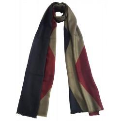 Mehrunnisa Handcrafted Maroon Tie & Die Pure Cashmere Pashmina Wool Stole Wrap – Unisex (GAR2242)