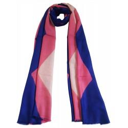 Mehrunnisa Handcrafted Blue Tie & Die Pure Cashmere Pashmina Wool Stole Wrap – Unisex (GAR2241)
