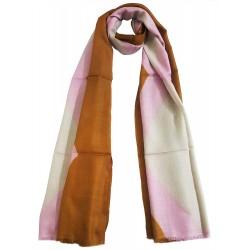 Mehrunnisa Handcrafted Pink Tie & Die Pure Cashmere Pashmina Wool Stole Wrap – Unisex (GAR2240)
