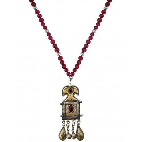 Mehrunnisa Original Afghani Turkmen Long Pendant Necklace For Girls / Women (JWL2197)