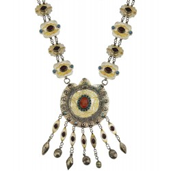 Mehrunnisa Original Afghani Tribal Vintage Long Turkmen Necklace (JWL2062)