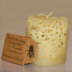 Beeswax coral candle small