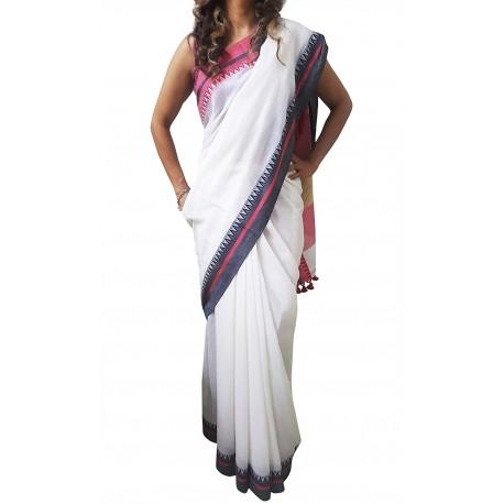 Mehrunnisa Handloom Pure Cotton SAREES With Blouse Piece From Bengal (GAR2514)
