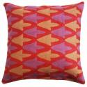 "Mehrunnisa (12""X12"") Kashmir Hand Embroidered Crewel Work Cushion Cover (HOM2502)"