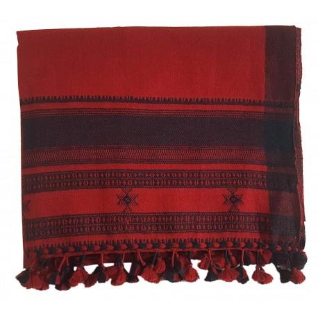 Mehrunnisa Traditional Handwoven Embroidered Woolen Stole from Gujarat (GAR2653)