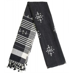 Mehrunnisa Traditional Handwoven Embroidered Woolen Stole from Gujarat (GAR2651)