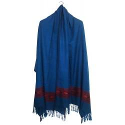 Mehrunnisa Handcrafted Premium Pure Wool Kullu Shawl – Unisex (GAR2564, Blue)