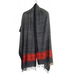 Mehrunnisa Handcrafted Premium Pure Wool Kullu Shawl – Unisex (GAR2536)