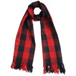Mehrunnisa Handcrafted Premium Pure Wool Check Design Muffler / Scarf – Unisex (GAR2054)