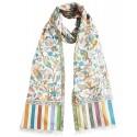 Mehrunnisa Ethnic Kani Silk Wool Stole/Large Scarf Wrap From Kashmir (GAR2072)