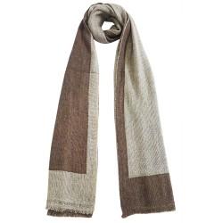 Mehrunnisa Handcrafted Reversible Cashmere 100% Pure Wool Muffler – Unisex (GAR2082)
