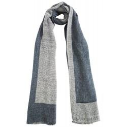 Mehrunnisa Handcrafted Reversible Cashmere 100% Pure Wool Muffler – Unisex (GAR2084)