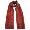 Mehrunnisa Ethnic Kani Pure Wool Stole / Large Scarf Wrap From Kashmir (GAR2118, Red)