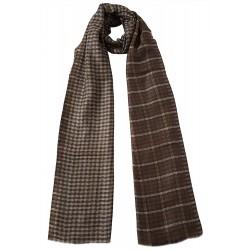 Mehrunnisa 100% Pure Cashmere Pashmina Wool Reversible Stole Wrap - Unisex  (GAR2127 , Brown)