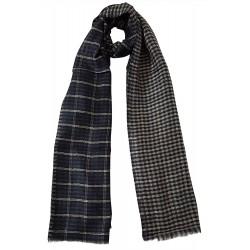 Mehrunnisa 100% Pure Cashmere Pashmina Wool Reversible Stole Wrap - Unisex  (GAR2128 , Black)