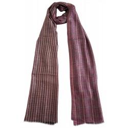 Mehrunnisa 100% Pure Cashmere Pashmina Wool Reversible Stole Wrap - Unisex (GAR2130)