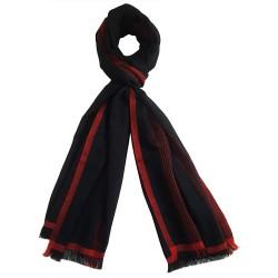 Mehrunnisa Handcrafted Pure Cashmere Pashmina Wool Stole Wrap – Unisex (Black, GAR2620)