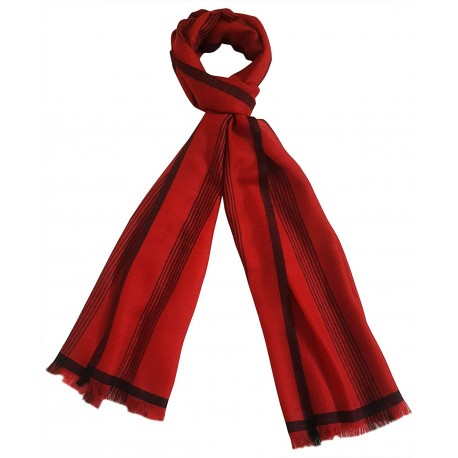 Mehrunnisa Handcrafted Pure Cashmere Pashmina Wool Stole Wrap – Unisex (Red, GAR2619)