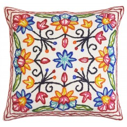 Mehrunnisa (16X16) Exclusive Kashmiri Hand Embroidered Cushion Cover (HOM2580)