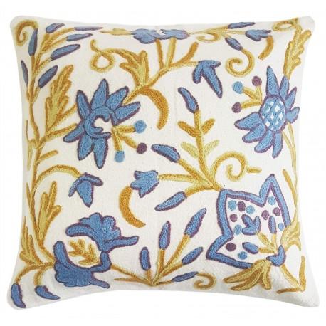 "Mehrunnisa (16""X16"") Exclusive Kashmiri Hand Embroidered Cushion Cover (HOM2578)"