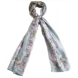 Mehrunnisa 100% Pure Silk Scarf / Neck Wrap – Unisex (GAR2485 , Flower)
