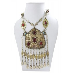 Mehrunnisa Afghani Tribal Vintage Long Turkmen Necklace (JWL2714)