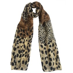 Mehrunnisa Fashion Leopard Print Scarf/Neck Wrap – Unisex (GAR2707 , Brown)