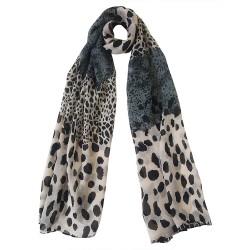 Mehrunnisa Fashion Leopard Print Scarf/Neck Wrap – Unisex (GAR2706 , Grey)