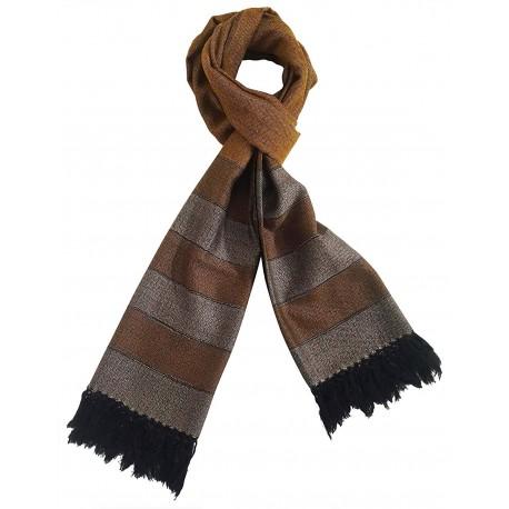 Mehrunnisa Handcrafted Premium Pure Wool Stole – Unisex  (GAR2627, Mustard)