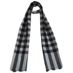 Mehrunnisa Handcrafted Pure Pashmina Cashmere Wool Check Muffler/Scarf Wrap – Unisex (GAR2600, Beige & Brown)