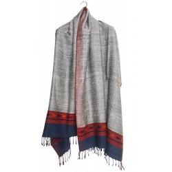 Mehrunnisa Handcrafted Premium Pure Grey Yak Wool Shawl (GAR2537)