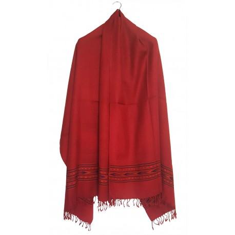 Mehrunnisa Handcrafted Premium Pure Wool Kullu Shawl – Unisex (GAR2534)
