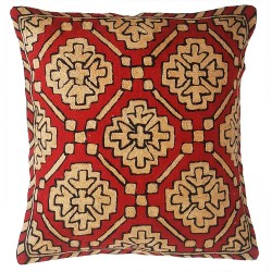 "Mehrunnisa (16""X16"") Exclusive Hand Embroidered Crewel Work Cushion Cover from Kashmir (HOM2525)"