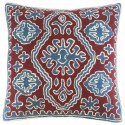 "Mehrunnisa (16""X16"") Exclusive Hand Embroidered Crewel Work Cushion Cover from Kashmir (HOM2524)"