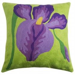 "Mehrunnisa (12""X12"") Kashmir Hand Embroidered Crewel Work Cushion Cover (HOM2511)"