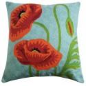 "Mehrunnisa (12""X12"") Kashmir Hand Embroidered Crewel Work Cushion Cover (HOM2506)"