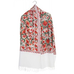 Mehrunnisa Handcrafted Premium Pure Wool Kullu Shawl in Check Design (GAR2566)