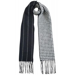 Mehrunnisa Double Sided Plaid Woolen Long Scarf / Muffler – Unisex (White,GAR2202)