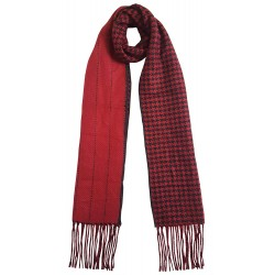 Mehrunnisa Double Sided Plaid Woolen Long Scarf / Muffler – Unisex (Red, GAR2199)