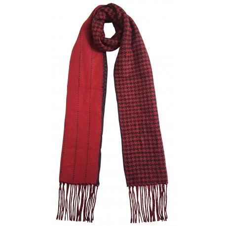 Mehrunnisa Double Sided Plaid Woolen Long Scarf / Muffler – Unisex (Red, GAR2199)