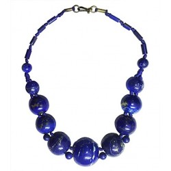 Mehrunnisa Afghanistan Ethnic Lapis Lazuli Necklace ( B, JWL2789)