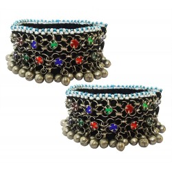 Mehrunnisa Traditional Afghani (Set of 2) Ghungroo Payal/Anklets for Girls/Women (JWL2795)