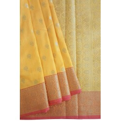 Mehrunnisa Assam Silk Butti SAREE With Copper Zari (Yellow, GAR2817)