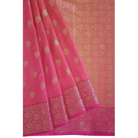 Mehrunnisa Assam Silk Butti SAREE With Copper Zari (Pink, GAR2818)