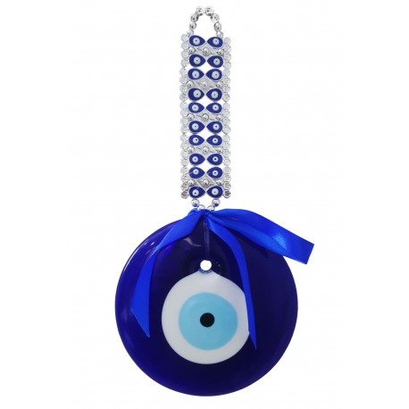 Mehrunnisa Big Turkish Evil Eye Good Luck Charm Hanging in Glass (MEH2822)