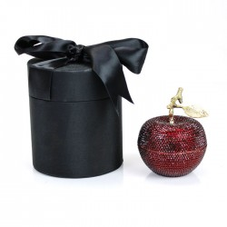 Red Poison Apple Candle with Crystallized Swarovski Elements