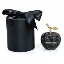 Black Diamond Apple Candle with Crystallized Swarovski Elements