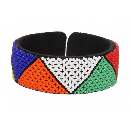 Zulu Beaded Bracelet Triangle